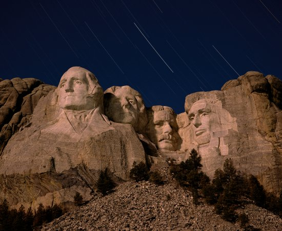 Brian wright photography night visions for Interesting facts about mount rushmore